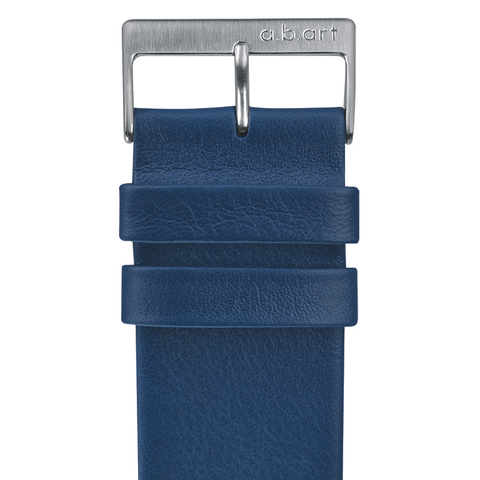 Leather strap blue 1.14 size L