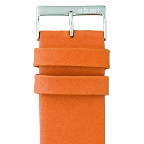 Leather strap orange 1.1 size S