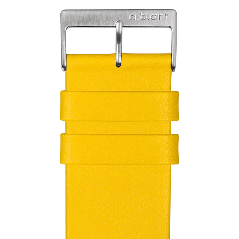Leather strap yellow 1.16 size L