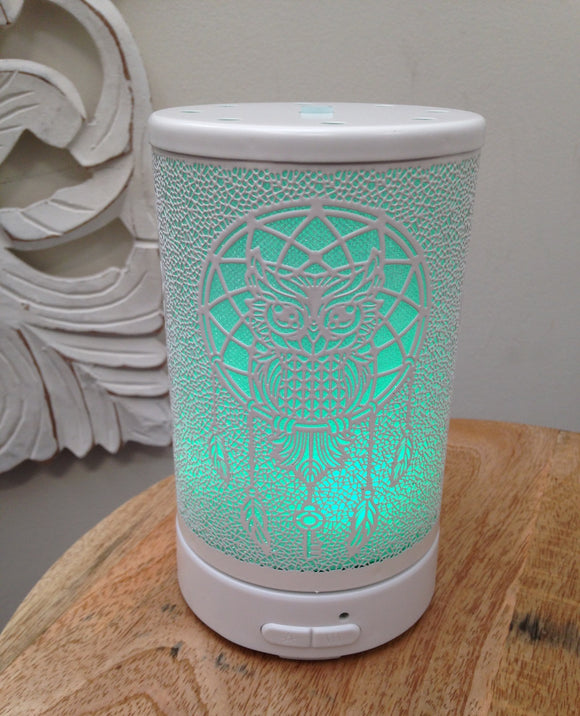 White Owl Dream Catcher Ultra Sonic Diffuser