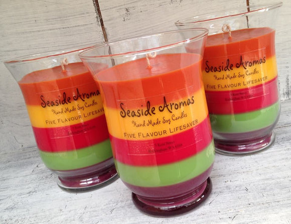 Five Flavour Lifesaver Soy Candle