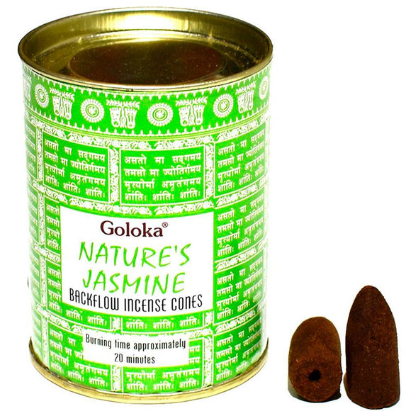 Goloka - Nature's Jasmine - Backflow Incense Cones