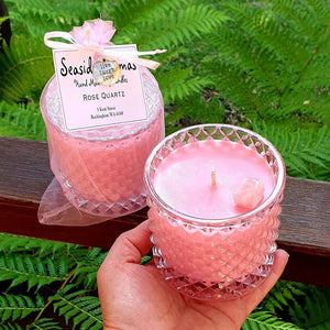 Rose Quartz Crystal Candle ***Bonus Free Gift!***