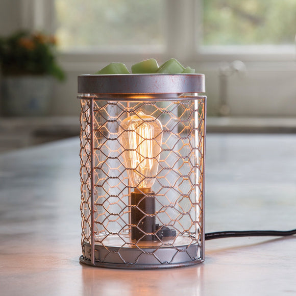 Chicken Wire Edison Bulb Illumination Warmer Melt/Oil Burner