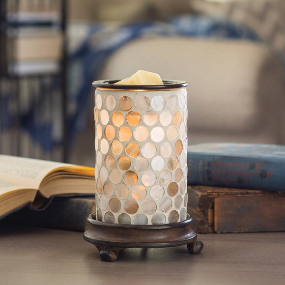 Pearl Glass Illumination Warmer Melt/Oil Burner
