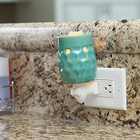 Honeycomb Turquoise Pluggable Warmer Melt/Oil Burner