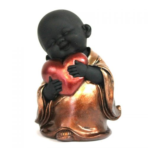 Buddha/Monk with Heart 10 x7cm
