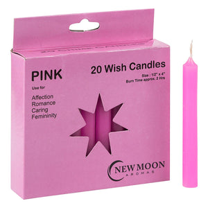 Wish Candle 1.25cm x 10cm (20 Pack) Pink