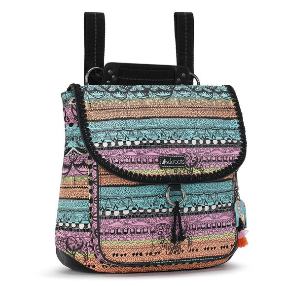 Sakroots - Artist Circle - Convertible Backpack - Sherbet - One World