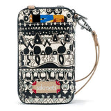 Sakroots - Artist Circle - Smartphone Crossbody Purse - Black & White - One World