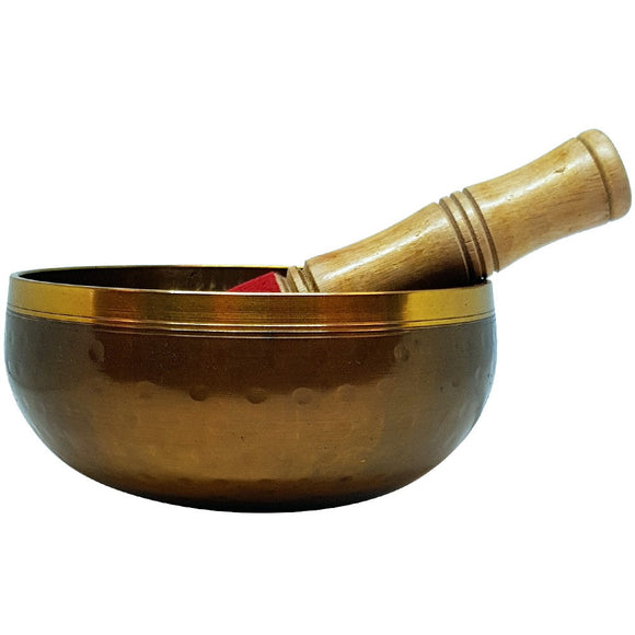 Singing Bowl - 12.5 cm Brass Hammered Bowl