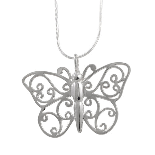Butterfly Sterling Silver Pendant