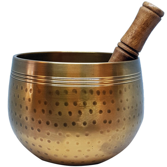 Singing Bowl - Deep Brass Hammered Singing Bowl