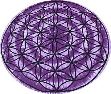 Round Tapestry - Flower of Life