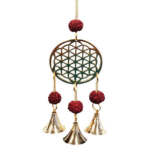 Flower of Life Brass Bell Chime