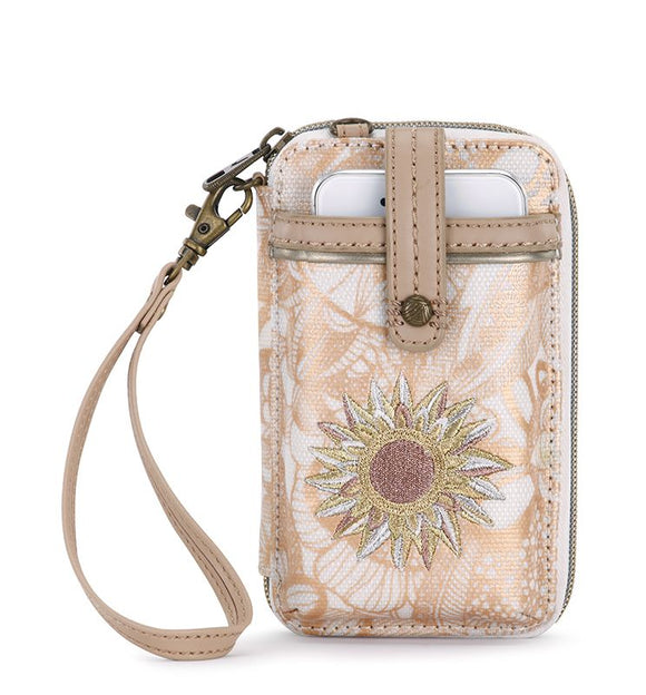 Sakroots - Artist Circle - Smartphone Crossbody Purse - Rose Gold - Spirit Desert