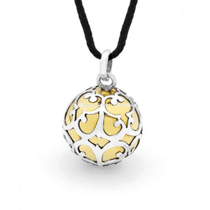 Lace Two Tone Sterling Silver Harmony Ball