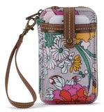 Sakroots - Artist Circle - Smartphone Crossbody Purse - Lilac Flower