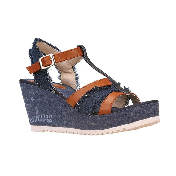 Ameise Lyle Navy Wedge Heal Sandals