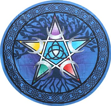 Round Tapestry - Pentacle