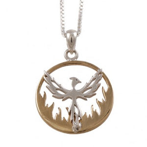Phoenix Rising Sterling Silver Pendant