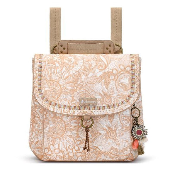 Sakroots - Artist Circle - Convertible Backpack - Rose Gold - Spirit Desert