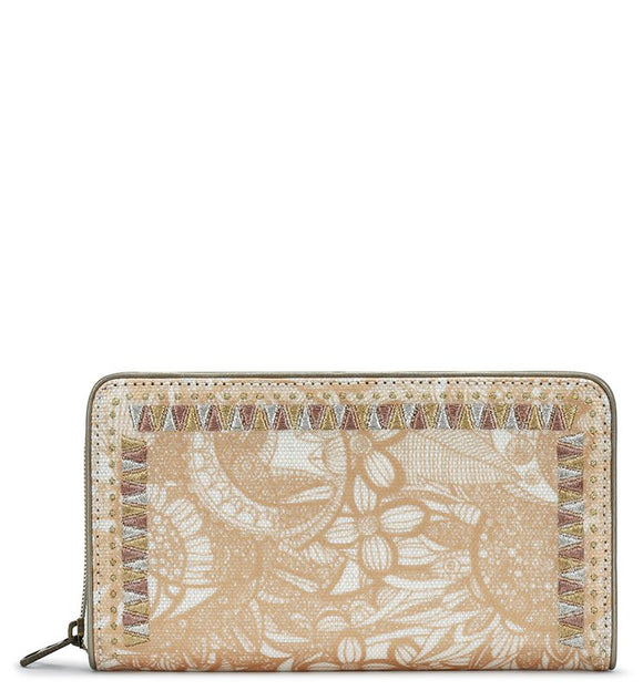 Sakroots - Artist Circle Large Zip Around Wallet - Rose Gold - Spirit Desert