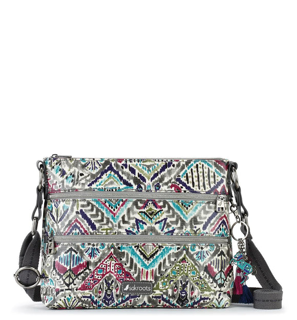 Sakroots - Artist Circle Zipper Crossbody - Slate - Brave Beauti