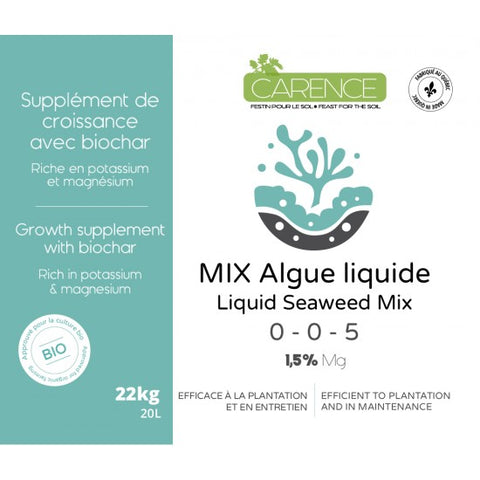 LIQUID SEAWEED MIX 0-0-5 1.5% Mg by CARENCE (20L)