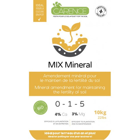 MIX MINERAL 0-1-5 by CARENCE (10 kg)