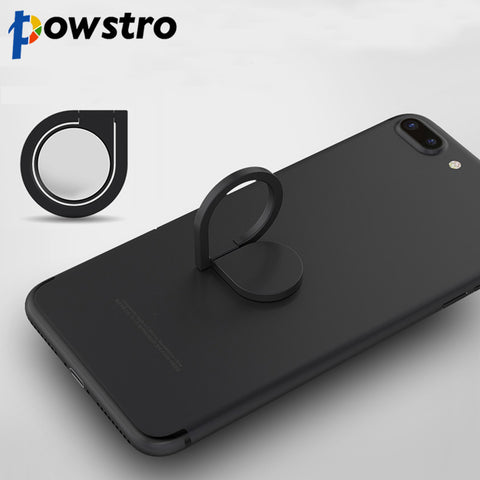 Powstro Magnetic All Metal Finger Ring Stand 360 Rotating Mount Mobile Phone Drip Grip Universal for smartphone