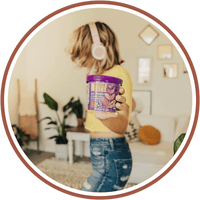 A girl dances around while carrying healthy oatmeal