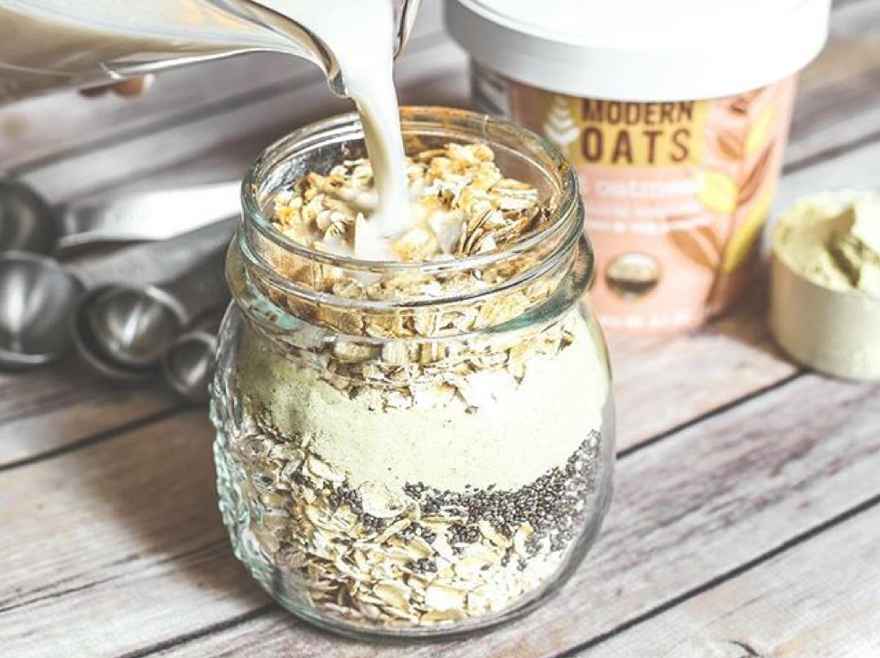 Modern Oats is perfect to eat before and after workouts.