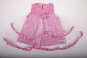 The gingham pink and tulle dress