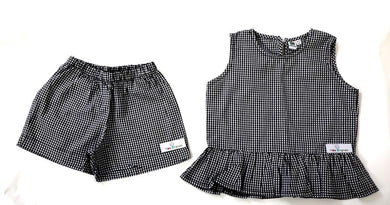 Gingham girls set