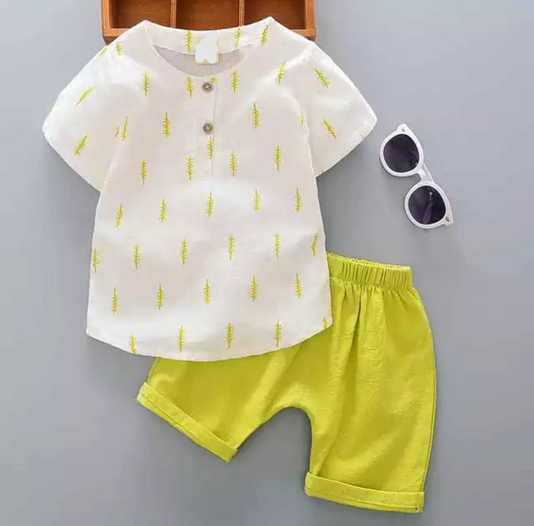 Yellow summer set for boys