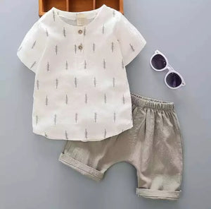 Grey Summer linen set