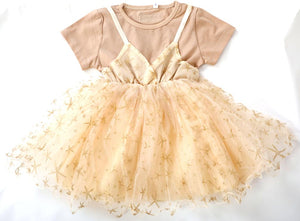 Occasional dress champagne color