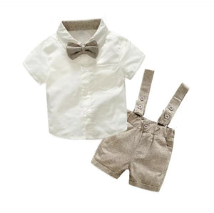 Brown occasional boys set
