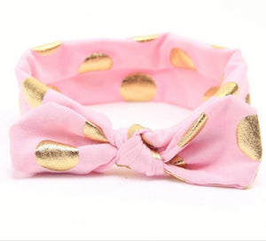 Gold dot headband