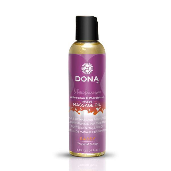 Scented Massage Oil Tropical Tease 110 ml Dona 5185