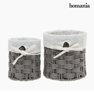 Set of Baskets Homania 2978 (2 pcs) Grey