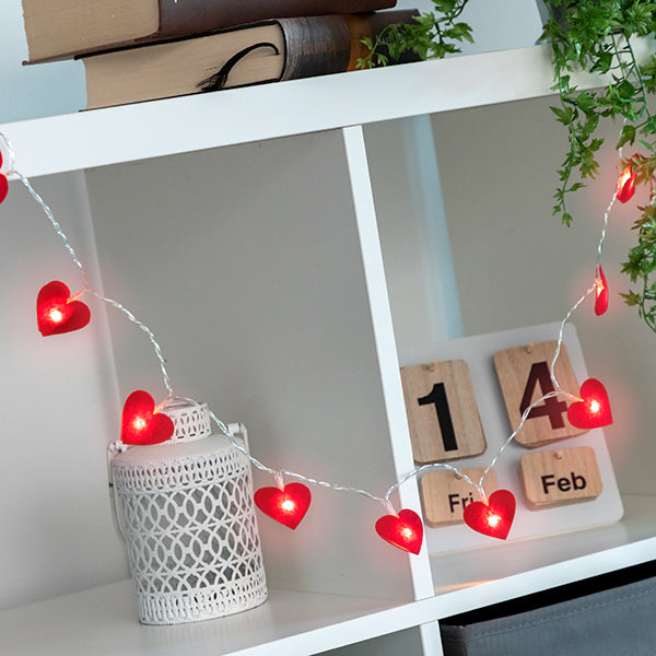 Hearts LED Garland (10 LED Lights)