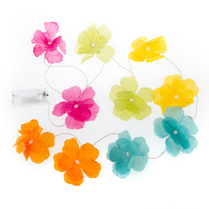 LED Garland of Multicoloured Flowers (10 LEDs)