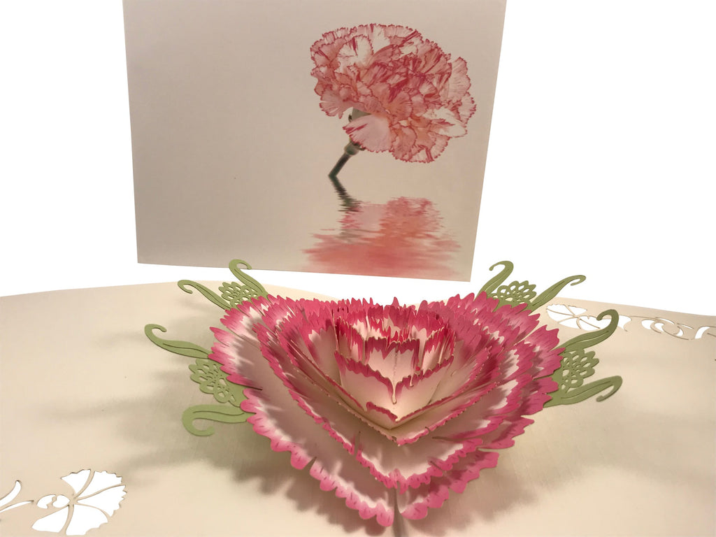 Pink Flower Pop Up Card Carnation Revealed