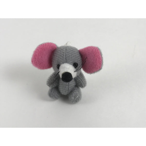 Miniature Plush Gray Mouse