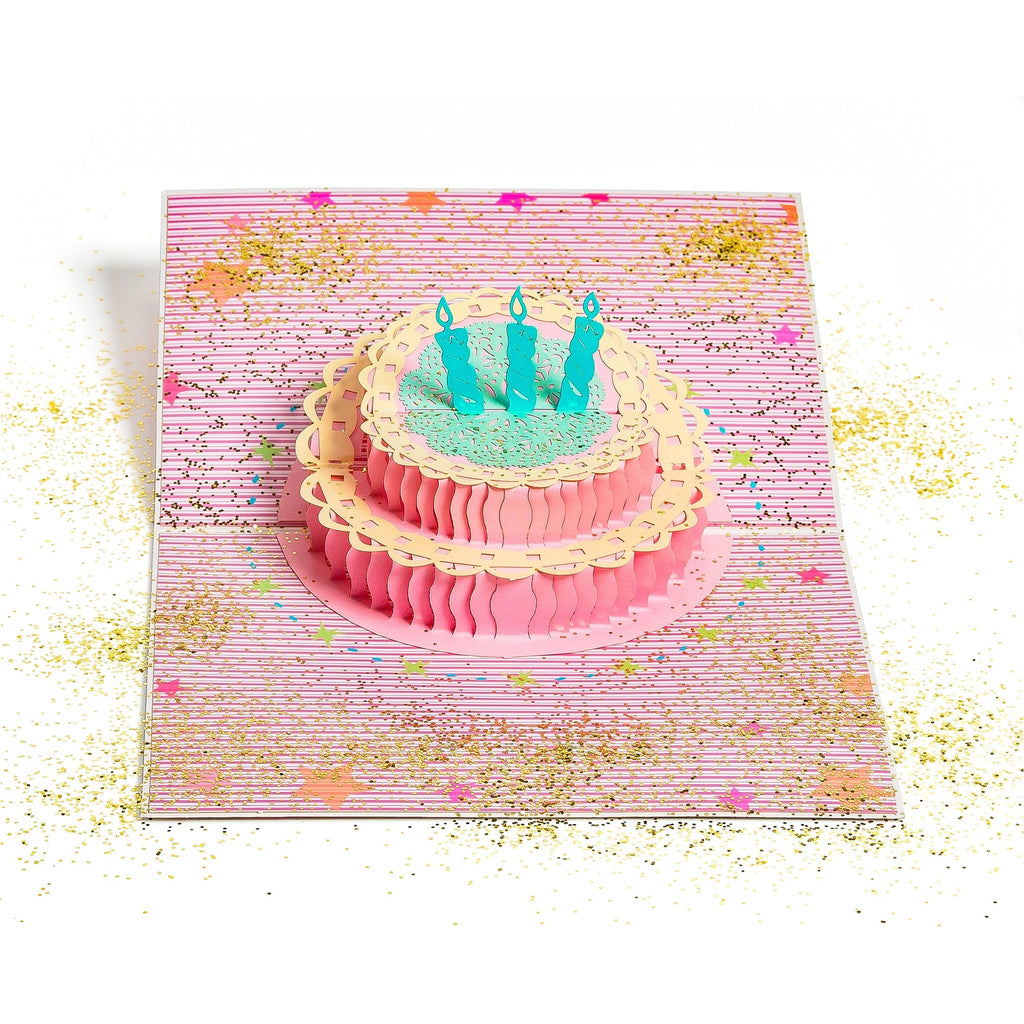 Glitter bomb 3d pop up birthday greeting card cake candles glitter bomb 3d pop up birthday greeting card cake candles m4hsunfo Gallery