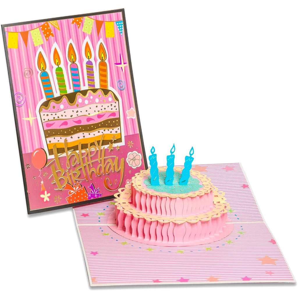 3d Pop Up Birthday Greeting Card Cake Candles Thegiftedrat