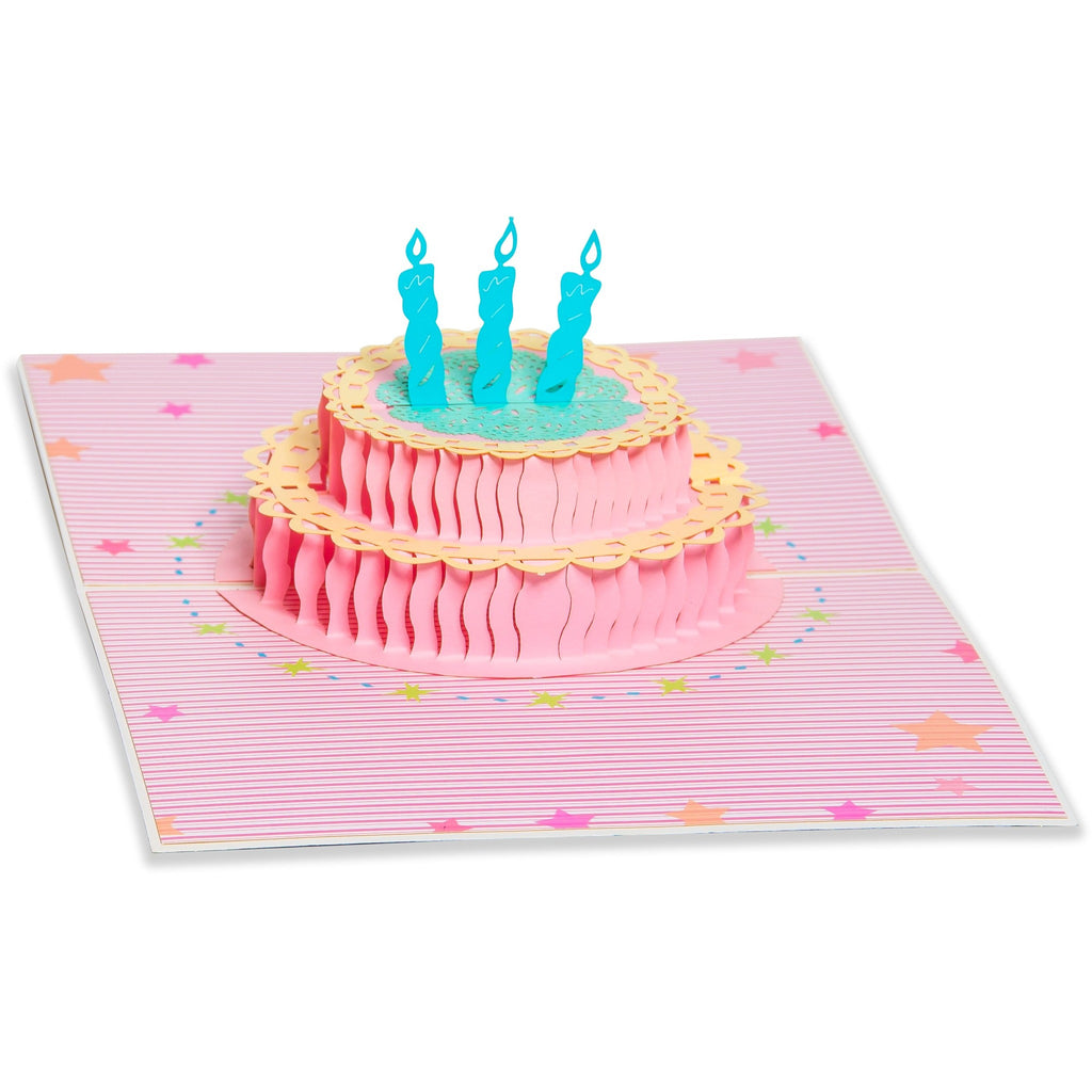 3D Pop Up Birthday Greeting Card Cake Candles TheGiftedRatcom