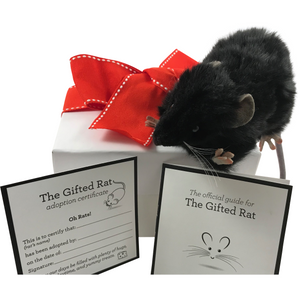 Black Furry Realistic Plush Rat